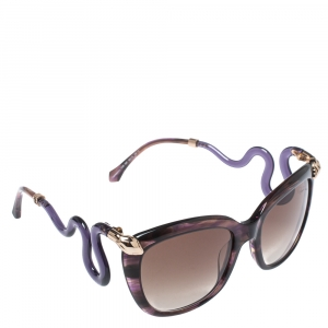 Roberto Cavalli Purple/ Brown Gradient 1038S Castelnuovo Square Sunglasses
