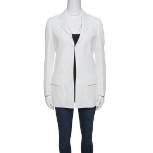 Roberto Cavalli Firenze Off White Tailored Blazer M