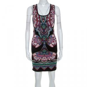 Roberto Cavalli Multicolor Lurex Jacquard Knit Sleeveless Dress S - used