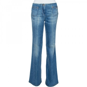 Roberto Cavalli Indigo Light Wash Denim High Waist Jeans M