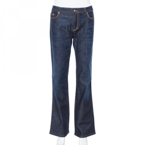 Roberto Cavalli Blue Dark Wash Denim Straight Leg Jeans L