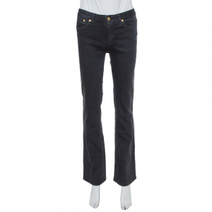 Roberto Cavalli Black Denim Flared Jeans S