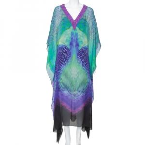 Roberto Cavalli Multicolor Silk Kaftan Dress M - used