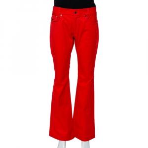 Roberto Cavalli Red Denim Bootcut Jeans L
