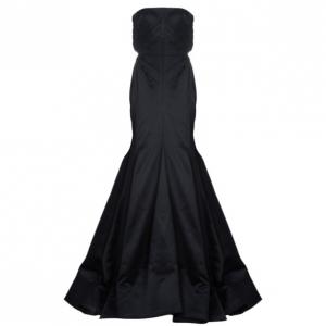 Roberto Cavalli Black Silk Evening Gown M used