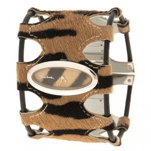 ساعة يد نسائية روبرتو كافالي كلاسيكية ستانلس ستيل بنية 38 مم