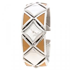 Roberto Cavalli Silver Stainless Steel Triangle Women's Wristwatch 27 mm