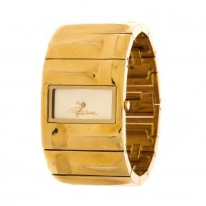 Roberto Cavalli Gold Plated Stainless Steel 7253270017 Women's Wristwatch 32 mm