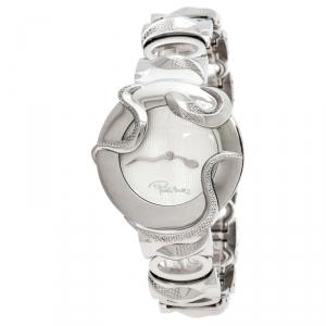 Robertto Cavalli Silver Stainless Steel Snake Women's Wristwatch 38 MM