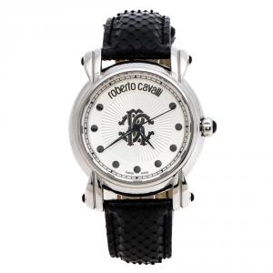 Roberto Cavalli Silver Stainless Steel Anniversary Collection 7251172615 Women's Wristwatch 40 mm