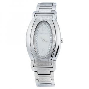 Roberto Cavalli Silver Stainless Steel Diana SWJ005 Women's Wristwatch 28 mm