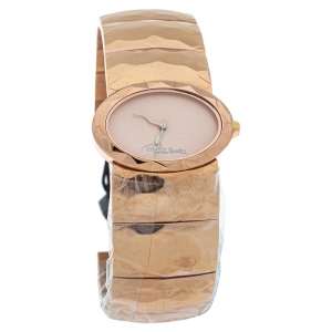 Roberto Cavalli Champagne Pink Rose Gold Tone Stainless Steel R7253133517 Quartz Women's Wristwatch 36 MM
