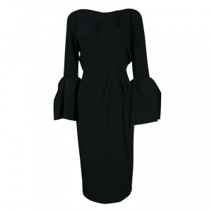 Roksanda Black Knit Bell Cuff Detail Margot Dress M