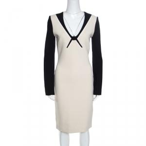Roland Mouret Colorblock Knit Long Sleeve Kutim Dress M