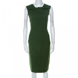 Limited Edition for The Room by Roland Mouret Olive Green Sleeveless Sheath Dress S used