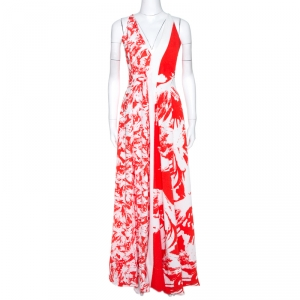 Roland Mouret Bicolor Berkeley Print Cloque Sleeveless Gown S used