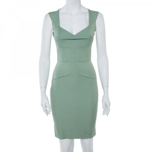 Roland Mouret Pastel Green Sleeveless Sheath Dress S - used