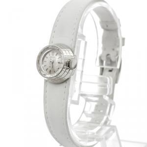 Rolex Silver 18K White Gold Orchid Women's Wristwatch 17 MM