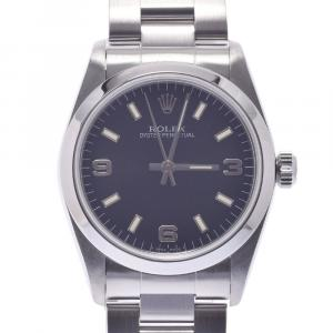 Rolex Blue Stainless Steel Oyster Perpetual 67480 Automatic Women's Wristwatch 31 MM