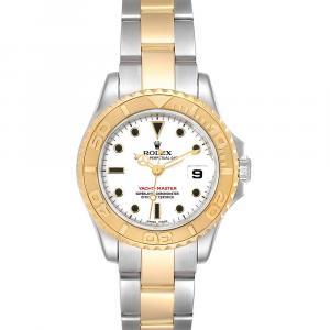 """ساعة يد نسائية رولكس """"يختماستر 169623"""" ستانلس ستيل و ذهب أصفر عيار 18 بيضاء 29 مم"""