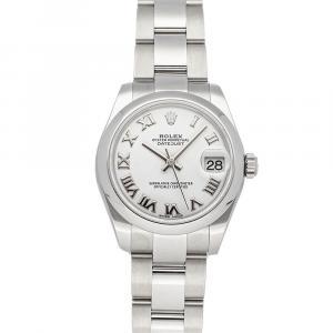 Rolex White Stainless Steel Datejust 178240 Women's Wristwatch 31 MM