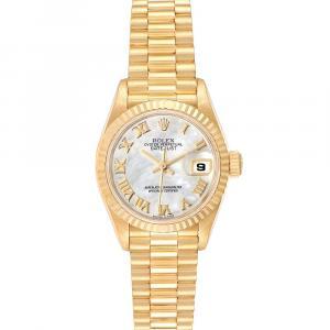 Rolex MOP 18K Yellow Gold President Datejust Automatic 79178 Women's Wristwatch 26 MM
