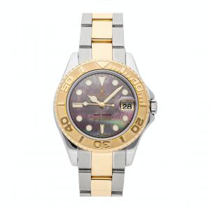 Rolex MOP 18K Yellow Gold And Stainless Steel Yacht-Master 168623 Women's Wristwatch 35 MM