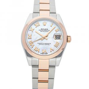 Rolex MOP 18K Rose Gold And Stainless Steel Datejust 178241 Women's Wristwatch 31 MM