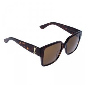 Saint Laurent Havana/Brown SL M9 Square Sunglasses