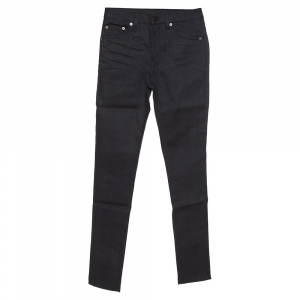 Saint Laurent Paris Black Denim Skinny Jeans S