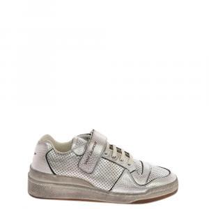 Saint Laurent Paris White Leather Court Classic SL/06 Sneakers Size IT 37.5
