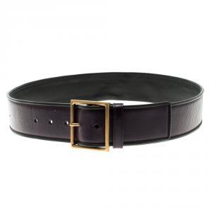 Saint Laurent Purple Leather  Waist Belt 90cm
