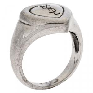 Saint Laurent Paris Sterling Silver Heart Ring Size 50
