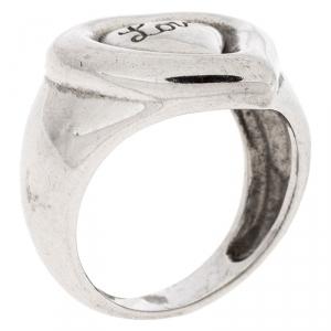 Saint Laurent Paris Sterling Silver Love Ring Size 54