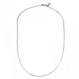 Saint Laurent Paris Sterling Silver Chain Necklace