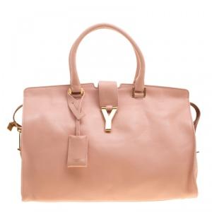 Saint Laurent Blush Pink Leather Medium Cabas Chyc Tote