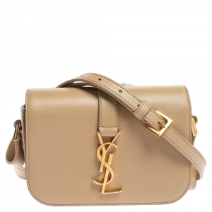 Saint Laurent Beige Leather Small Universite Shoulder Bag