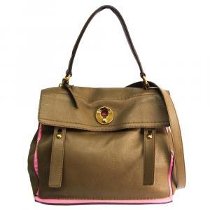 Saint Laurent Paris Beige Leather  Muse Two Shoulder Bags