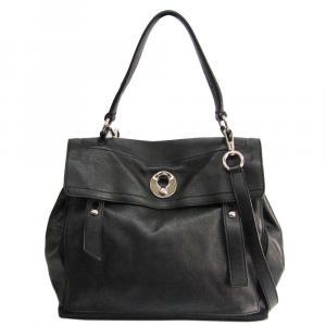Saint Laurent Paris Black Leather  Muse Two Shoulder Bags