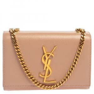 Saint Laurent Pink Leather Small Kate Shoulder Bag