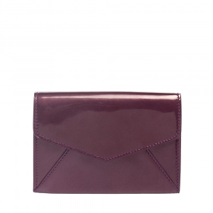 Saint Laurent Purple Patent Leather Coin Wallet