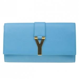 حقيبة يد سان لوران باريس Y-لاين كلاسيكية زرقاء