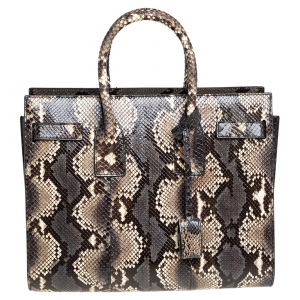 Saint Laurent Paris Multicolor Python Small Sac De Jour Tote
