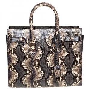 حقيبة يد سان لوران باريس ساك دو جور صغيرة جلد ثعبان متعدد الألوان