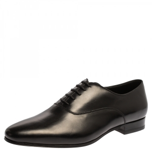 Saint Laurent Paris Black Leather Derby Size 37.5