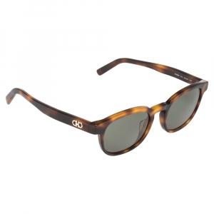 Salvatore Ferragamo Havana/Green SF866S Oval Sunglasses