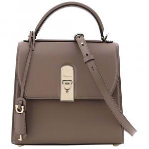 Salvatore Ferragamo Brown Leather Boxy Small Bag