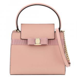 Salvatore Ferragamo Pink Leather New Vara Bag