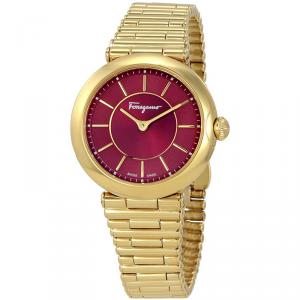 Salvatore Ferragamo Red Gold Ion Plated Stainless Steel FIN060015 Women's Wristwatch 36MM