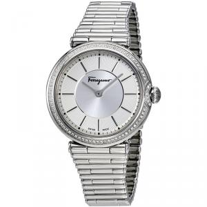 Salvatore Ferragamo Silver Stainless Steel FIN050015 Women's Wristwatch 36MM